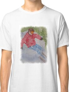 SKIING THE POWDER Classic T-Shirt