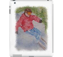 SKIING THE POWDER iPad Case/Skin