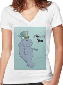 Mana Tea Women's Fitted V-Neck T-Shirt