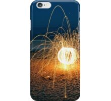 Sparks on the Beach iPhone Case/Skin