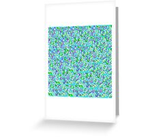 Blue Flowers - Patchwork Greeting Card