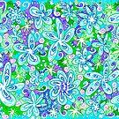 Blue Flowers by Sammy Nuttall