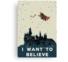 I Want To Believe - Hogwarts Canvas Print