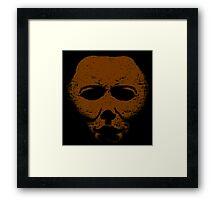 Michael Myers Orange Mask Framed Print