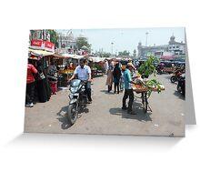 Street Scene Charminar Greeting Card