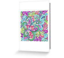 Random VSwirls Greeting Card