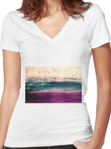 ice wind Women's Fitted V-Neck T-Shirt