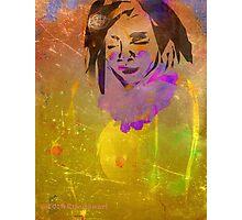 Golden Princess Nude-Design & Illustration Drawing Photographic Print