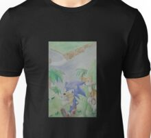Sonic and Tails run for a friend! Unisex T-Shirt