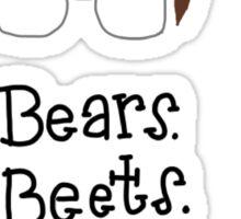 Bears. Beets. Battlestar Galactica. Dwight Schrute the Office Sticker