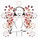 Floral Angel by catherine barnhoorn