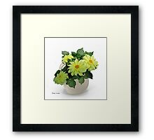 Pitcher with Yellow Daisies Framed Print