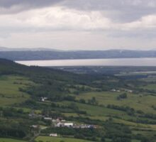 Benevenagh Mountain Magilligan Co. Derry looking over Lough Foyle  to Co.Donegal Ireland   Sticker