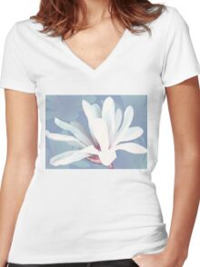 Mother's Magnolia 05 Women's Fitted V-Neck T-Shirt