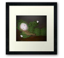 Caterpillar Girl Child Framed Print
