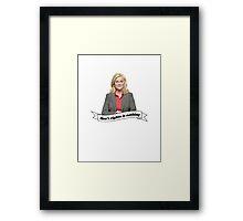 Leslie Knope Framed Print