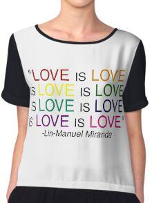 LOVE is LOVE (Black) Chiffon Top