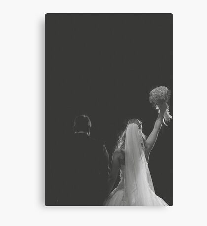 Groom And Bride Canvas Print