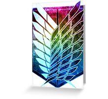 °MANGA° Attack On Titan Rainbow Greeting Card