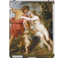 Peter Paul Rubens - Venus And Adonis. Lovers portrait:  seductive goddess, woman and man, Venus,  angel , good liferelations, lovely couple, nude lady, valentine's day, sexy, romance, female and male iPad Case/Skin
