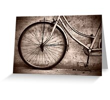 Cambodia Vintage Bicycle Sepia Greeting Card