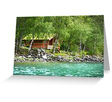 Living at the Water's Edge in Skjolden, Norway Greeting Card