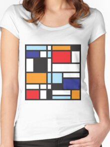 Mondrian Study II Women's Fitted Scoop T-Shirt
