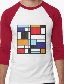 Mondrian Study II Men's Baseball ¾ T-Shirt