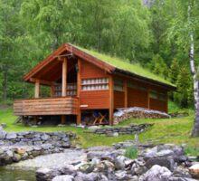 Log Cabin in Skjolden, Norway Sticker
