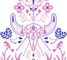 La Vie & La Mort – Pink & Periwinkle Sticker