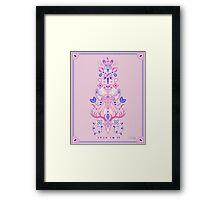 La Vie & La Mort – Pink & Periwinkle Framed Print
