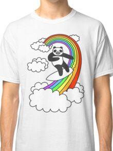Pandas Surf Rainbows Classic T-Shirt
