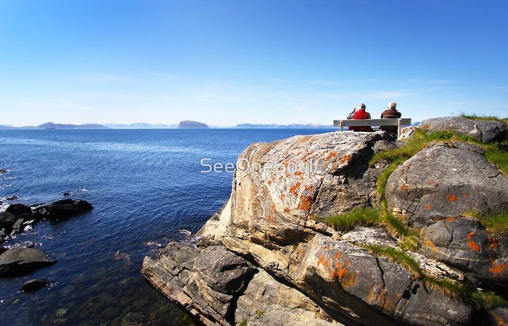 Views beyond Hammerfest, Norway by SeeOneSoul