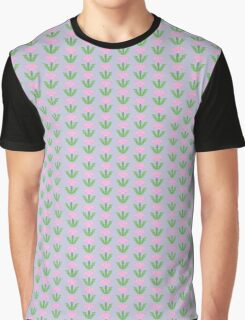Pink Tulip Abstract Graphic T-Shirt