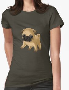 Cute Pug Puppy Womens Fitted T-Shirt