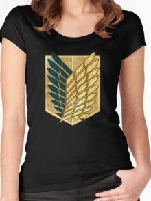 °MANGA° Attack On Titan Rust Logo Women's Fitted Scoop T-Shirt