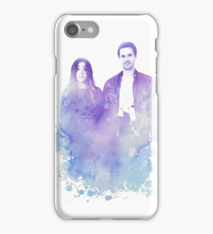 Chloe Bennet and Brett Dalton Watercolor iPhone Case/Skin