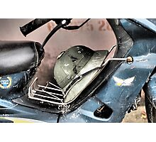 Phuy Le Moped Photographic Print
