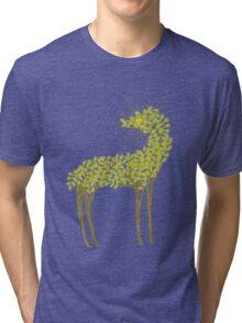 Tree horse with sunburst Tri-blend T-Shirt