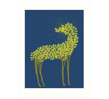 Tree horse with sunburst Art Print