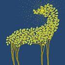 Tree horse with sunburst by SusanSanford