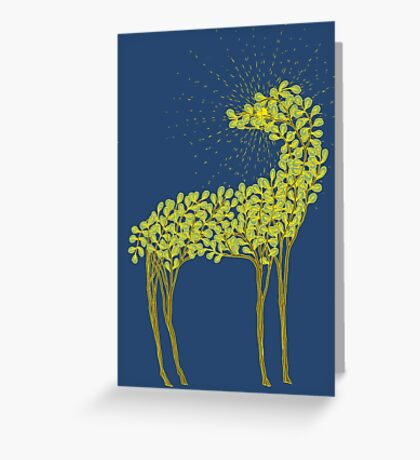 Tree horse with sunburst Greeting Card