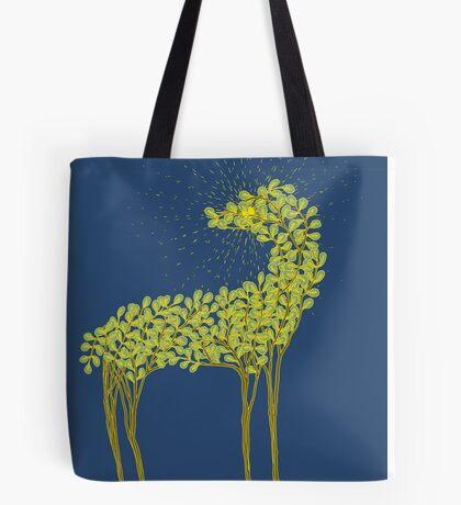 Tree horse with sunburst Tote Bag