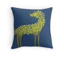 Tree horse with sunburst Throw Pillow