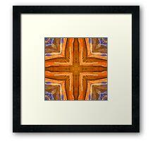 Orange & Blue Framed Print