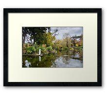 Lakeside in Autumn Framed Print