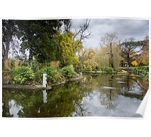 Lakeside in Autumn Poster