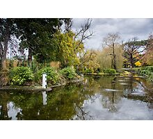 Lakeside in Autumn Photographic Print