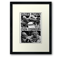 Robbie Lawler Vs Rory Macdonald Framed Print