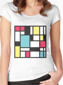 Mondrian Study III Women's Fitted Scoop T-Shirt